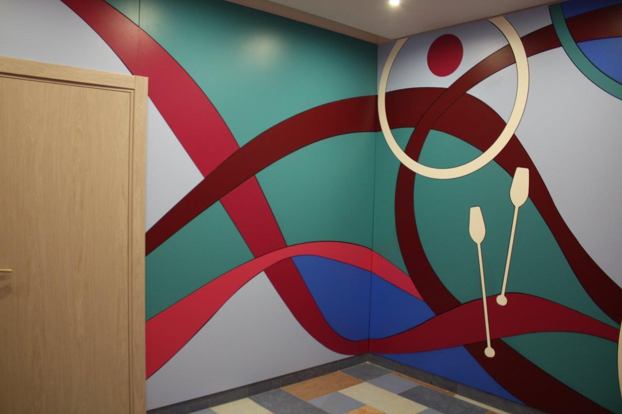 Стеновые панели Академии спорта